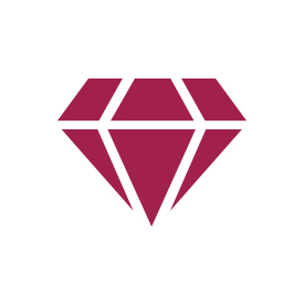 Blue Sapphire & 1/8 ct. tw. Diamond Hoop Earrings in 14K White Gold