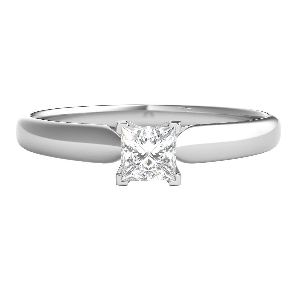 1/4 ct. tw. Prima Diamond Solitaire Engagement Ring in 14K White Gold - Prima