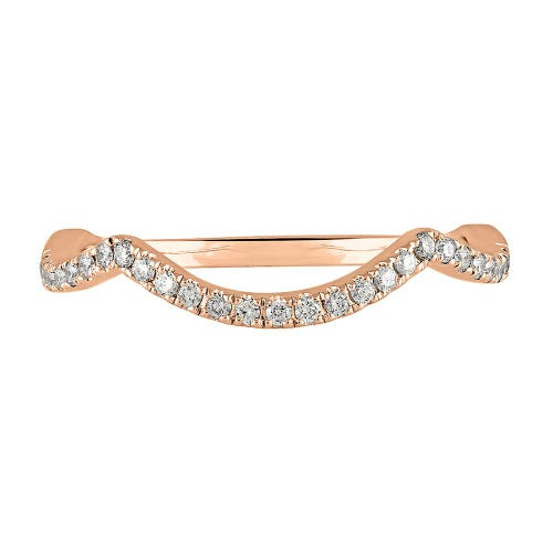 TRULY™ Zac Posen 1/7 ct. tw. Diamond Contour Band in 14K Rose Gold