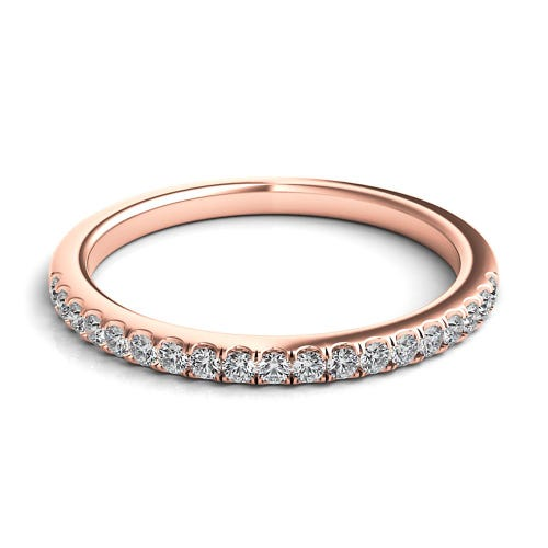 Helzberg Diamond Masterpiece® 1/4 ct. tw. Diamond Band in 18K Rose Gold