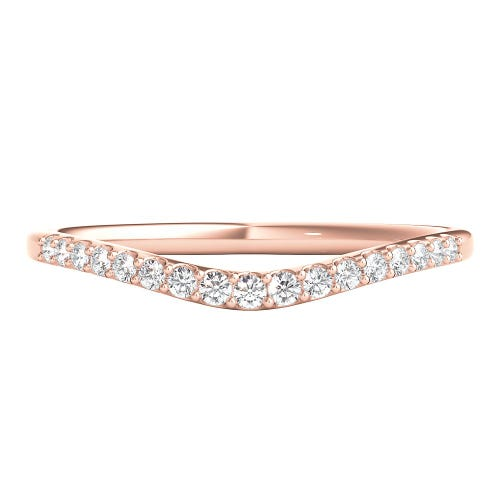 1/7 ct. tw. Diamond Contour Band in 14K Rose Gold