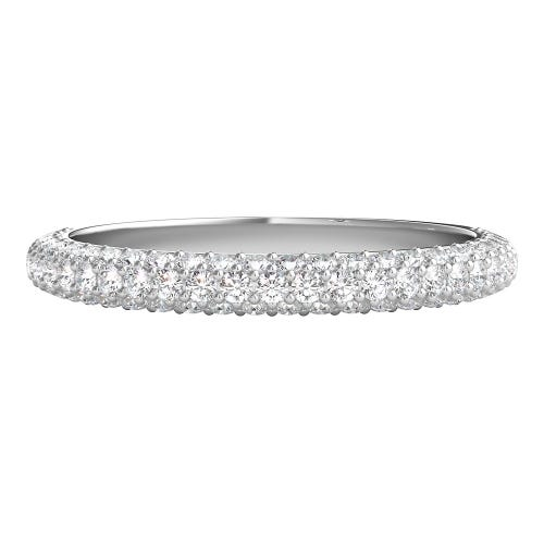 Radiant Star® 3/4 ct. tw. Diamond Wedding Band in 14K White Gold