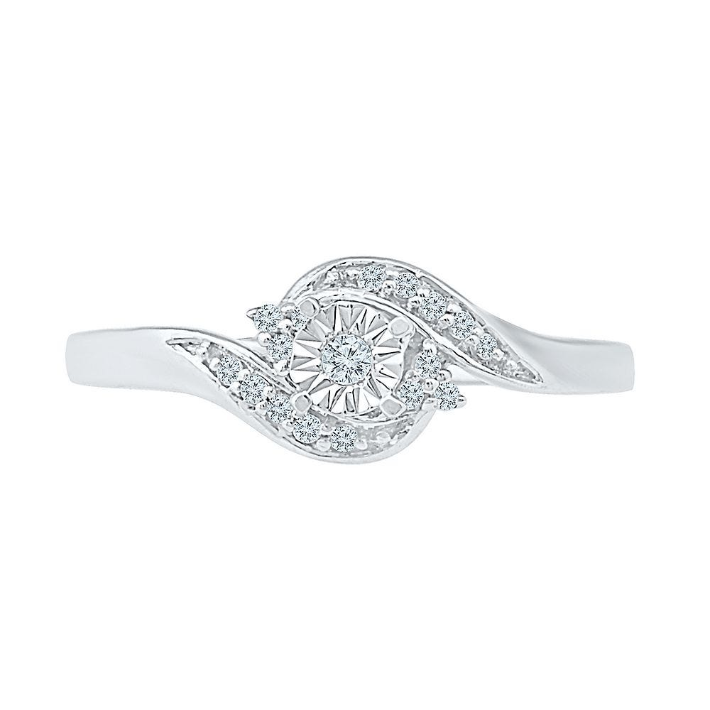 6e4f28b0c387c 1/10 ct. tw. Diamond Promise Ring in Sterling Silver | Helzberg Diamonds