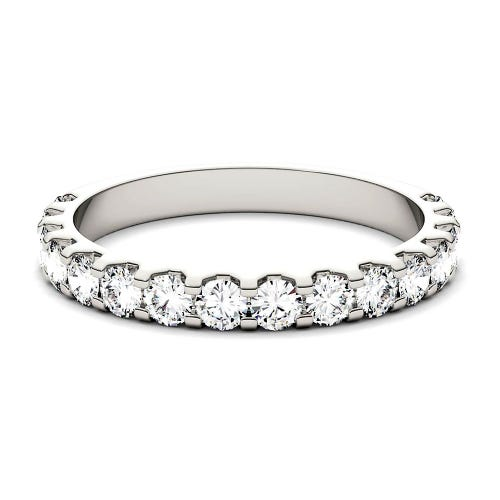 Forever One™ 7/8 ct. tw. Moissanite Band in 14K White Gold