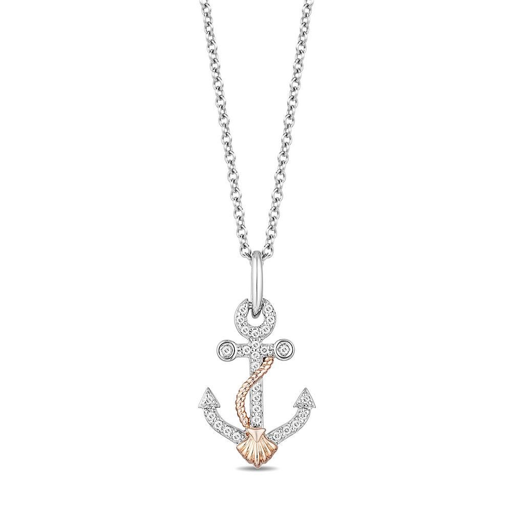 """Sterling Silver Disney Ariel Heart Charm Necklace Complete with 18/"""" inch Chain"""