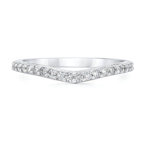 Royal Asscher® 1/4 ct. tw. Diamond Contour Band in 14K White Gold