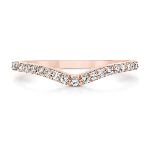 Royal Asscher® 1/5 ct. tw. Diamond Band in 14K Rose Gold