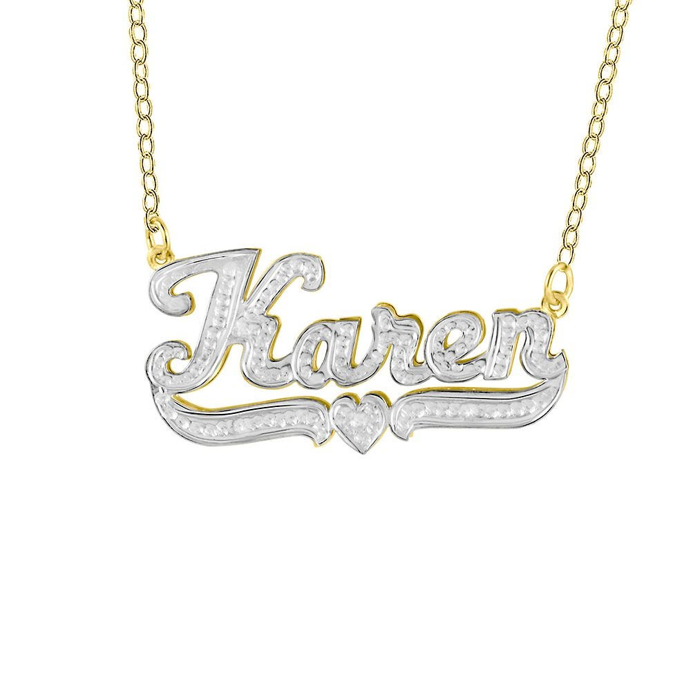 NAME PLATE NECKLACE 14KT GOLD NAME PLATE NECKLACE 18 INCHES