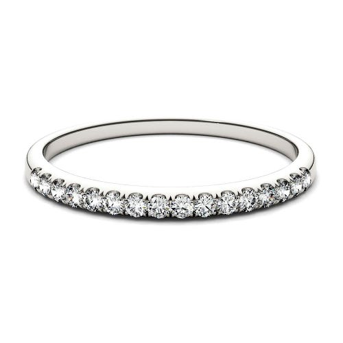 Forever One™ 1/7 ct. tw. Moissanite Band in 14K White Gold