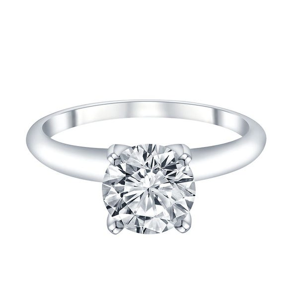 14k White Gold 1 Ct Tw Altr Created Diamond Solitaire Engagement Ring Helzberg Diamonds