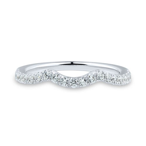 Light Heart® 1/3 ct. tw. Lab Grown Diamond Contour Band in 14K White Gold