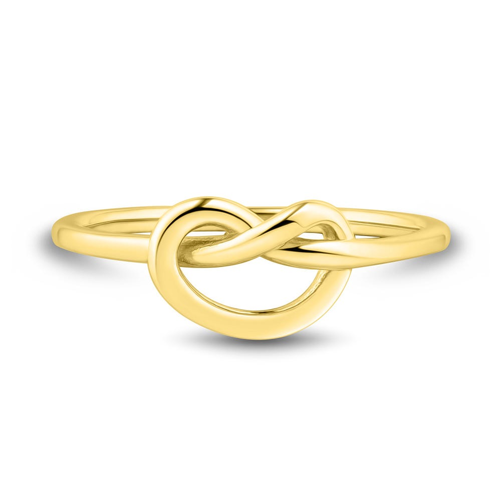14k Solid Gold Solitaire Diamond Knot Ring Dainty Tie The Knot Ring Love Knot Promise Ring Gold Stacking Ring Rose Gold Bridesmaid Gift
