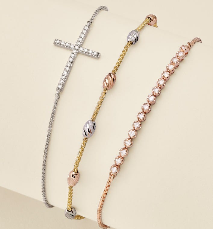 Bracelets In White, Yellow Or Rose Gold