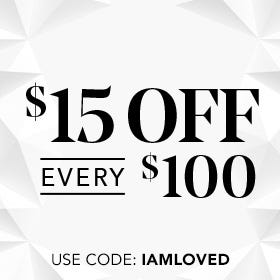 $15 off Every $100