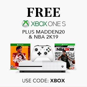 FREE XBOX ONE S Plus Madden20 & NBA 2K19 with purchase