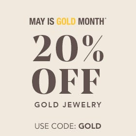 20% OFF GOLD JEWELRY