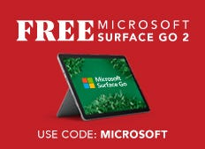 Free Surface Go 2 with purchase of $1499 or more now through December 29th.