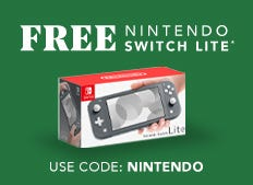 Free Nintendo Switch Lite with purchase of $699.99 or more now through December 2nd.