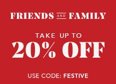 Save up to 20% off now through December 6th. Use code: FESTIVE