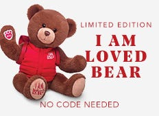 Our Limited Edition I Am Loved® Bear was created in partnership with fellow Make-A-Wish® supporter, Build-A-Bear®. $5 from the sale of each bear is donated to Make-A-Wish®.